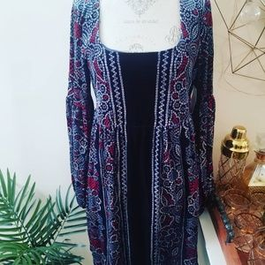 Free People 60's inspired hippie dress